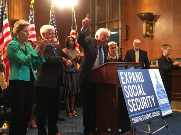 Sen. Bernie Sanders vows to protect and expand Social Security